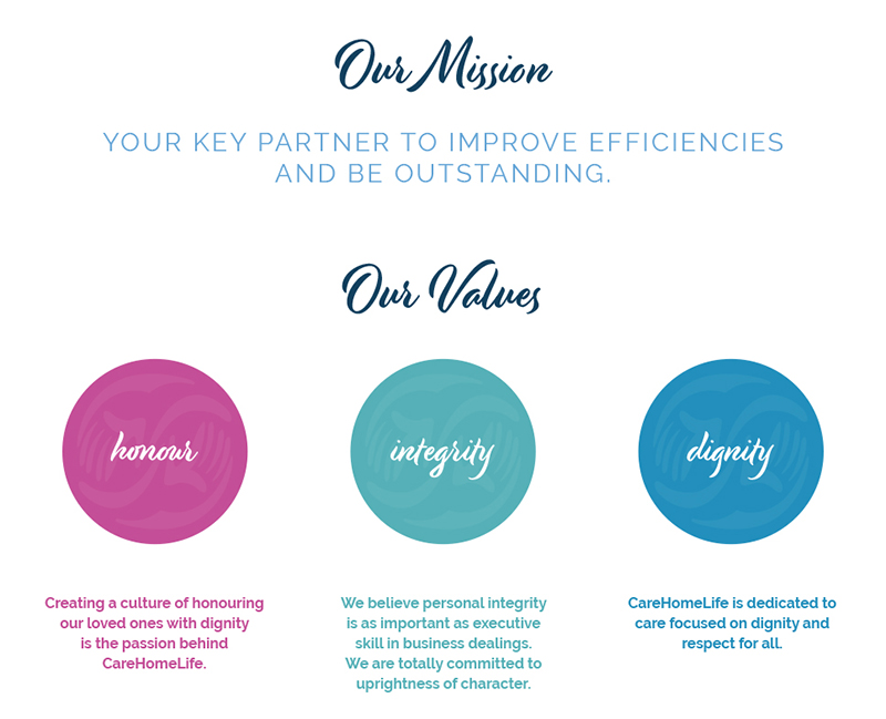 care home life mission and values